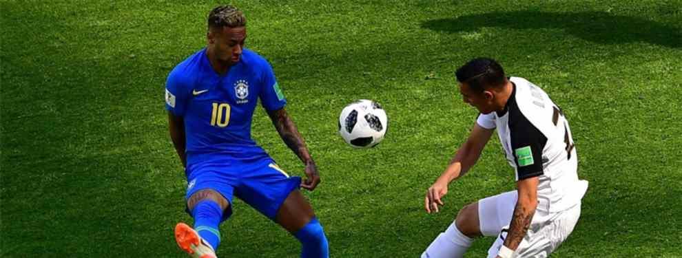 El brasileño Neymar, uno de los grandes objetivos de Florentino Pérez para reforzar al Real Madrid, no se mordió la lengua tras un empate que complica el futuro de la canarinha