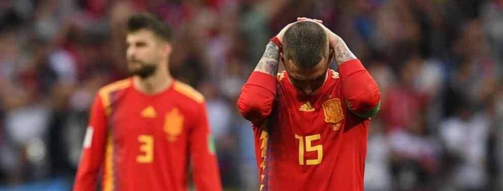 Gerard Piqué y Sergio Ramos se vieron las caras después del desastre de España en el Mundial. Los dos pesos pesados se intercambiaron algunas palabras tras la derrota.