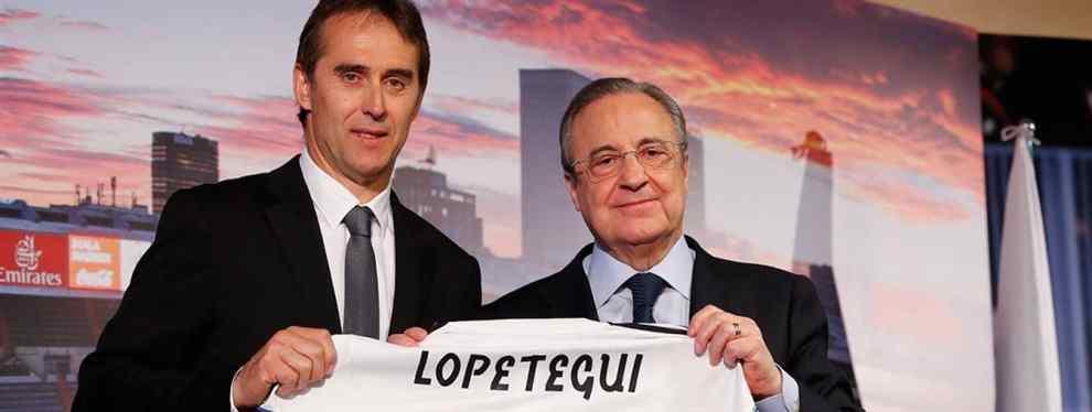 Florentino Pérez, el presidente del Real Madrid, no quiere saber nada de una petición que le ha puesto sobre la mesa el ex seleccionador español Julen Lopetegui