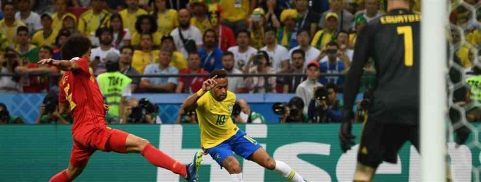 La canarinha cae eliminada en cuartos de final del Mundial de Rusia ante un combinado belga que cada vez apunta más alto y ya está en semifinales. El varapalo podría ser doble para el '10' carioca.