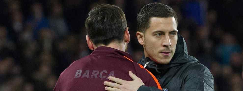 Messi da el visto bueno a la operación que mete a Hazard en el Barça (y Florentino Pérez alucina)