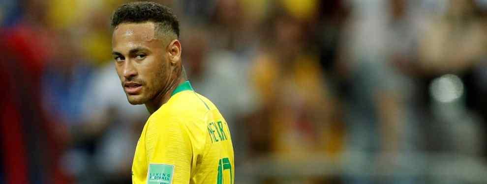 Neymar se la puede jugar a Florentino Pérez. El brasileño quiere salir sí o sí del PSG este verano, y baraja otras opciones además de la del Real Madrid este verano.