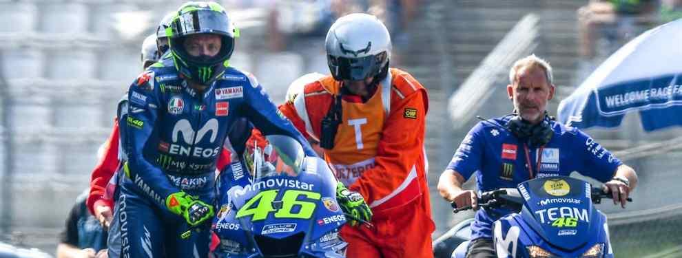 Valentino Rossi se planta. El campeón está harto de ser comparta en el Mundial de MotoGP y señala al gran culpable del desaguisado: el motor de la Yamaha.